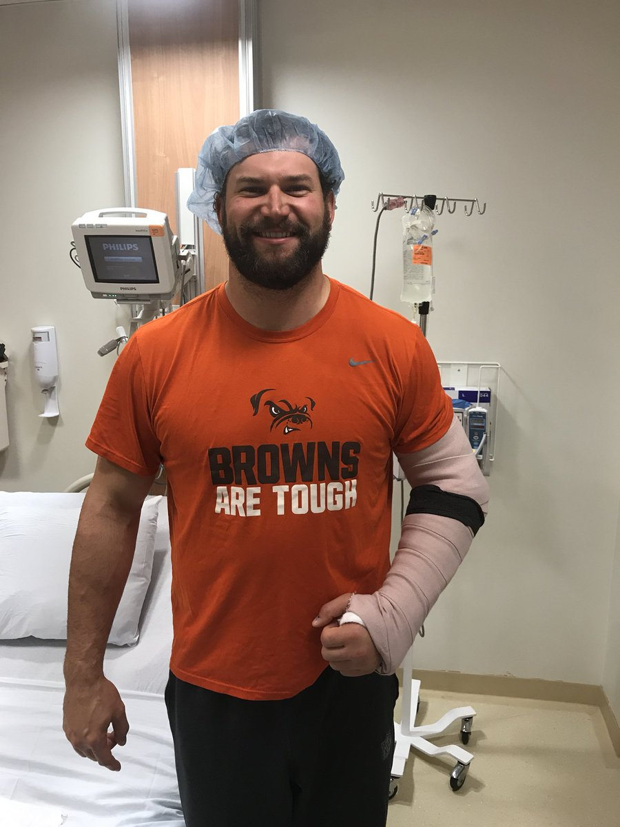 Watching Joe Thomas' First Experience as  a Browns Fan was more Heartbreaking than the Game Itself